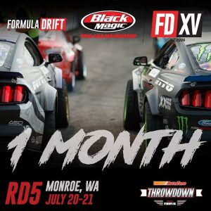 We're a month away from throwing down! See you at @AutoZone RD5: Throwdown presented by @OfficialRainX in Monroe, WA on July 20-21. Ticket: Link in bio. #FormulaDRIFT #FormulaD #FDXV #FDSEA