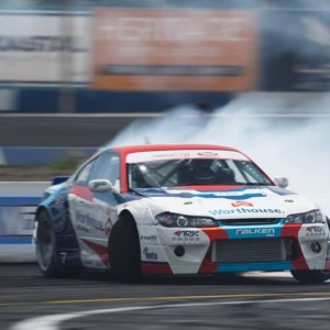 @piotrwiecek slid through the course right into the top qualifying spot with a score of a 96! #fdsea #fdxv #formuladrift #formulad