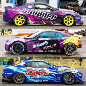 A few new cars at @formuladjapan. #fdjapan #formuladrift #drifting #fdliveries #s15 #gt86