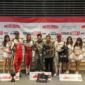 Congrats to @chickendiarrhea (what a handle) in 1st, @powervehicles100 in 2nd and @shinjiminowa in 3rd at @formuladjapan Round 3 at @fujispeedway! #fdjapan #formuladriftjapan #formuladrift #formulad #drifting