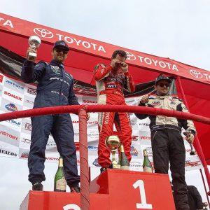 Congrats to @luchomendoza10 in 1st with champagne in his eyes, @alexheilbrunn in 2nd and @fredieblume in 3rd at @prodriftperu Round 2! #prodriftperu #drifting #driftperu