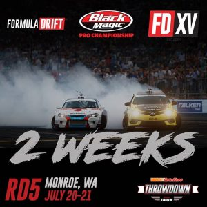 Get Ready to Throwdown in 2 Weeks! @AutoZone RD5: Throwdown presented by @officialrainx in Monroe, WA on July 20-21. Tickets: (link in bio) #FormulaDRIFT #FormulaD #FDXV #FDSEA
