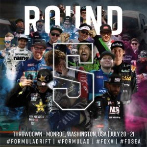 Got 5 on It. The 2nd Half of our 15th Season continues at @autozone RD5: Throwdown presented by @officialrainx in Monroe, WA on July 20-21. Tickets: (link in bio) #FormulaDRIFT #FormulaD #FDXV #FDSEA