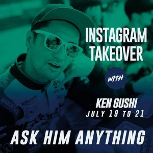 """Hi, it's @KenGushi speaking. Ask Me Anything!"" Ask the Gush anything on our Instagram Page as he takes it over from July 19-21! Also catch him in action this weekend at @AutoZone RD5: Throwdown presented by @OfficialRainX in Monroe, WA on July 20-21. Tickets: (link in bio) #FormulaDRIFT #FormulaD #FDXV #FDSEA"