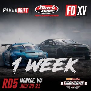 It's about to get serious, we're only 1 week away! Watch each driver get in the zone at @AutoZone RD5: Throwdown presented by @OfficialRainX in Monroe, WA on July 20-21. Tickets: Link in bio #FormulaDRIFT #FormulaD #FDXV #FDSEA