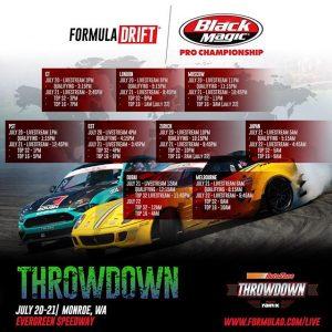 Livestream times for @formulad Round 5 this weekend. #formulad #formuladrift #drifting