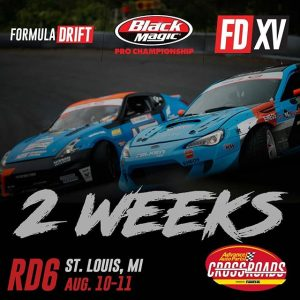 Only 2 Weeks Away! Who you got? @AdvanceAutoParts RD6: CROSSROADS presented by @OfficialRainX in Madison, IL. Aug 10-11: bit.ly/FDSTL2018 #FormulaDRIFT #FormulaD #FDXV #FDSTL