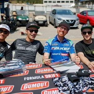 Teammates Tuesday. TAG your best bud! @daiyoshihara | @kengushi | @odidrift | @mattfield777 | @falkentire Friends become frenemies at @AutoZone RD5: Throwdown presented by @OfficialRainX in Monroe, WA on July 20-21. Tickets: Link in bio #FormulaDRIFT #FormulaD #FDXV #FDSEA
