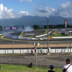 That's a wrap from @formuladjapan at @fujispeedway! Here's a sloppy video of a Hayashi, @fredricaasbo, @maxorido and @nobuterutaniguchi drift 🚂. #fdjapan #formuladrift #drifting #drifttrain