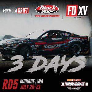 Throwback look, Throwdown battle 3 days until @AutoZone RD5: Throwdown presented by @OfficialRainX in Monroe, WA on July 20-21. Tickets: Link in bio bit.ly/FDSEA2018 #FormulaDRIFT #FormulaD #FDXV #FDSEA