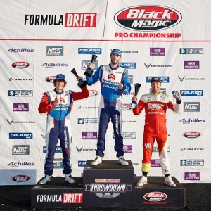 Your #FDSEA Podium! 1) @jamesdeane130 2) @ryantuerck 3) @piotrwiecek Thank You Seattle! #FormulaDRIFT #FormulaD #FDXV