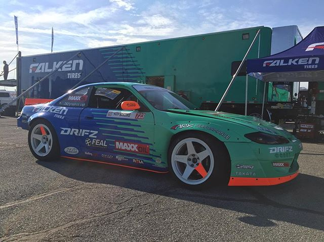 @odidrift here, I'm taking over this account during !!! Unloading and getting ready for some practice. Really looking forward to running this track for the very first time. Stay tuned for some behind the scenes content.