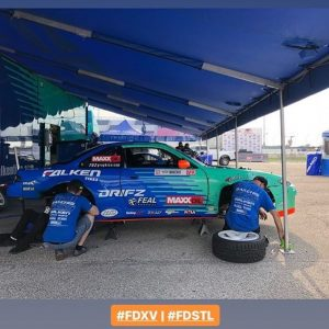 @odidrift here. I'm done driving for the day, time to prep the car for tomorrow! We go through several checklists at the end of every day, even if the car seems perfect. This sport is crazy tough on equipment! #fdstl @falkentire @fealsuspension @drifzwheels @maxxoil_usa @maxx_oil @arkperformance @getnrg @swiftsprings @boxousadirect @rola_audio_video @holleyperformance @sparcofficial @hmsmotorsports @takataracing @aemintakes @igniteracingfuel @turbosmarthq @deatschwerks @cbm_motorsports @702graphics @gandjaircraft @clutchmasters @rts_racetechservices @driveshaftshop @aeromotive @fuelsafe @hpssiliconehoses @_wisefab_ @vortechsuperchargers @ebcbrakesofficial #falkenspotting #teamfalken #feal443
