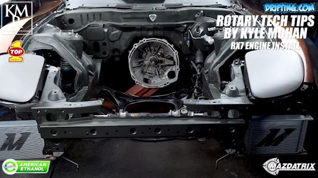 FD3S RX7 Engine Install - Rotary Tech Tips by Kyle Mohan @kylemohanracing / Video by @DRIFTINGCOM