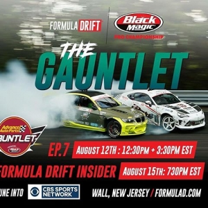 Need More Formula Drift Action in your life? Catch @advanceautoparts RD4: The Gauntlet presented by @blackmagicshine on CBS Sports Today! [Ep 7]: Aug 12 - 12:30PM PST | 3:30 PM EST [Insider]: Aug 15 - 4:30PM PST | 7:30 EST Check your local listings: http://www.formulad.com/tv-schedule #FormulaDRIFT #FormulaD #FDXV #FDNJ
