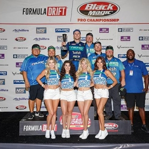 Team @FalkenTire 's @MattField777 secures 2nd at RD6! #FDSTL - Check out his highlights on our website Catch him in action next at @autozone RD7: SHOWDOWN presented by @officialrainx in Fort Worth, TX on Sept 14-15! Tickets: bit.ly/FDTX2018 #FormulaDRIFT #FormulaD #FDXV #FDTX