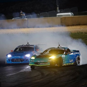 Things that go bump in the night @FalkenTire: @mattfield777 vs. @daiyoshihara Don't be scared, we'll be back at @autozone RD7: SHOWDOWN presented by @OfficialRainX in Fort Worth, TX on Sept. 14-15. Tickets: (link in bio) #FormulaDRIFT #FormulaD #FDXV #FDTX