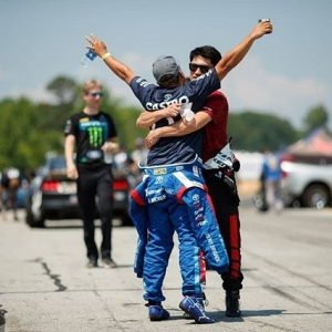 Can't eighty-six this 86-friendship! @kengushi | @falkentire and @jcastroracing | @nexentireusa Let's hug it out at @autozone RD7: SHOWDOWN presented by @OfficialRainX in Fort Worth, TX on Sept. 14-15. Tickets: (link in bio) #FormulaDRIFT #FormulaD #FDXV #FDTX