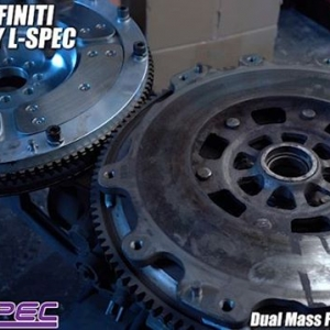 Dual Mass Flywheel VS Single , NISSAN/INFINITI TECH TIPS BY L-SPEC @lspecauto / Video by @driftingcom