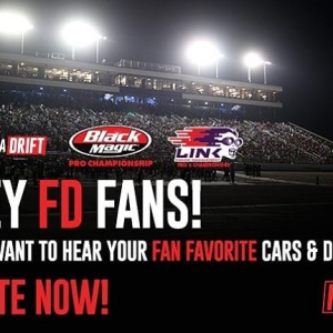 FD FANS: We Want to Hear your Fan Favorite FD Car & Drivers! Vote Now: bit.ly/2018FDFANVOTE (link in bio)  #FormulaDRIFT #FormulaD #FDXV