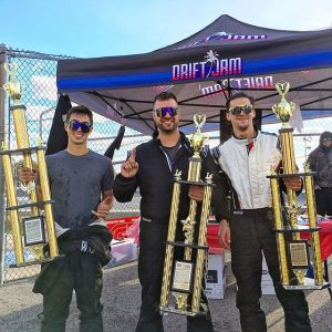 Great final round of @drift.jam in the books! Congrats to @dan.skidz in 1st, @amazzoccone in 2nd and @brysoncook in 3rd place. #driftjam #drifting