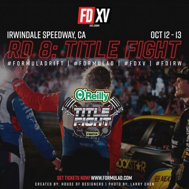 It's going to be a Fight to the Finish. Your Top 3 Ranked Drivers after 7 Rounds of Competition. 1) @jamesdeane130   @FalkenTire 2) @FredricAasbo   @NexenTireUSA 3) @PiotrWiecek   @FalkenTire Who will take the Title home? Find out at @oreillyautoparts RD8: TITLE FIGHT presented by @officialrainx on Oct 12-13 at Irwindale, CA. Tickets: bit.ly/FDIRW2018 #FormulaDRIFT #FormulaD #FDXV #FDIRW