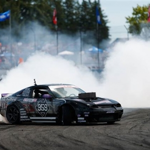 Leaving you coughing in his smoke @coffmanracing | @achillestire Smoke clouds coming to @autozone RD7: SHOWDOWN presented by @OfficialRainX in Fort Worth, TX on Sept. 14-15. Tickets: http://bit.ly/FDTX2018 #FormulaDRIFT #FormulaD #FDXV #FDTX
