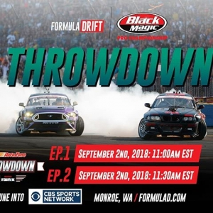 Need More Formula Drift Action in your life? Catch @autozone Parts RD5: THROWDOWN presented by @officialrainx on @cbssports tomorrow! [Ep 1]: Sep 2 - 8AM PST | 11AM EST [Ep 2]: Sep 2 - 830AM PST | 1130AM EST Check your local listings: www.formulad.com/tv-schedule #FormulaDRIFT #FormulaD #FDXV #FDNJ