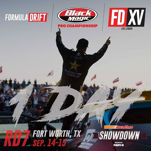 One more day! @fredricaasbo | @nexentireusa  It's almost go time for @autozone RD7: SHOWDOWN presented by @OfficialRainX in Fort Worth, TX on Sept. 14-15. Tickets: (link in bio)