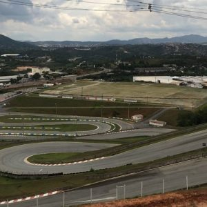 @superdriftbrasil this weekend on this awesome downhill track. 215 foot vertical drop in 3 hairpins. It is awkward to walk on it's so steep! I'll be helping out with the livestream on their YouTube page and I'll post up the schedule tomorrow. #superdriftbrasil #sdbdrift #drifting
