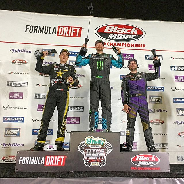 After the most insane event and an incredible season, @vaughngittinjr takes the win at Round 8, with @fredricaasbo in 2nd and @chelseadenofa in 3rd at @formulad Irwindale.