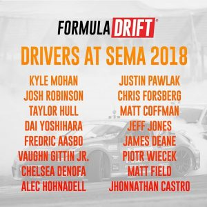 Are you at @SEMASHOW this year? Never miss a beat and catch our FD Drivers & Cars with our complete FD SEMA Guide: (link in bio) #FormulaDRIFT #FormulaD #FDXV #SEMA