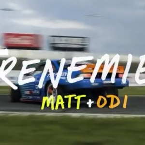 Check out the latest episode of @falkentire #FRENEMIES with @mattfield777 & @odidrift ! Who wants to see them face off this weekend at @oreillyautoparts RD8: TITLE FIGHT presented by @officialrainx ? Oct 12-13th in Irwindale, CA. Catch all the action- Tickets (link in bio) #FormulaDRIFT #FormulaD #FDXV #FDIRW