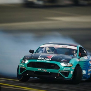 Joining the Ford Out Front stable is @justinpawlak13's @falkentire | @roushperformance Mustang, giddy up! Our Complete FD SEMA Guide: (link in bio) #FormulaDRIFT #FormulaD #FDXV #SEMA