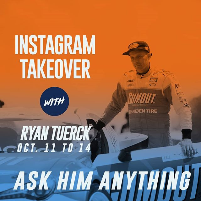 Tuerck-over alert! Here's your chance to ask @ryantuerck anything!  Get in his mind before @oreillyauto RD8: TITLE FIGHT presented by @OfficialRainX at Irwindale, CA on Oct 12-13! Tickets: (link in bio)