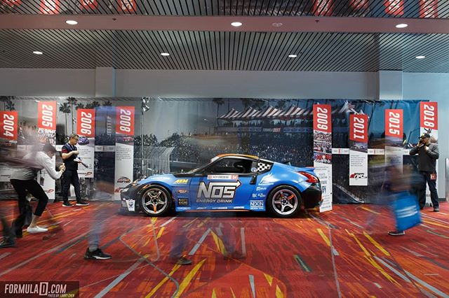 15 Years of Formula Drift celebrated at @SEMASHOW! On display during the show was a historic timeline of our major moments in the sport. What was your favorite moment in the last 15 years?  Visit our website for full coverage (link in bio)