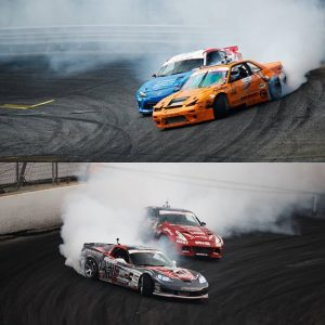 A mere TWO point lead gave @dirk_stratton the 2018 Rookie of the Year title. @mattvankirk18 and Dirk have seen each other in Pro 2 competition twice, each taking one win. But they have yet to battle it out in Pro 1. 2019? . #formuladrift #formulad #fdxv 📸:@larry_chen_foto