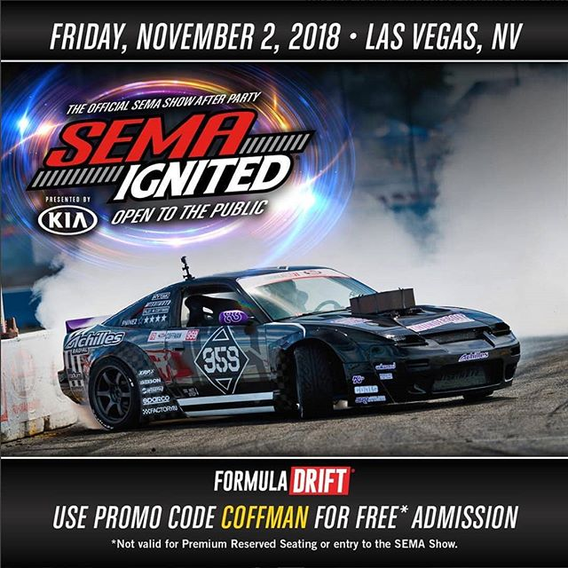 After the show it's the after party!  The fun continues, join @coffmanracing tonight at SEMA Ignited!  Our Complete FD SEMA Guide: (link in bio)
