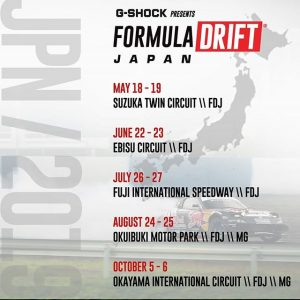 Announced at #SEMA: @formuladjapan 2019 Schedule. #FormulaDRIFT #FormulaD #FDJapan
