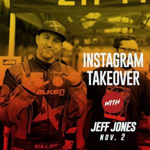 Can you keep up with the Jones? @jeffjonesracing | @falkentire is taking over the feed all day today at SEMA 2018 and through SEMA Ignited! SEMA attendees: Jones will be signing autographs today at 11am @link_ecu booth 51007 and 12pm at @getnrg booth 24917 #FormulaDRIFT #FormulaD #FDXV