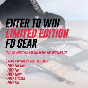 Enter to Win Limited Edition #FDXV Gear! Tell us what you are thankful for in your life. 2 Lucky Winners will receive the following: lanyard, pin, shirt, sticker & hat! Enter: (link in bio) #FormulaDRIFT #FormulaD