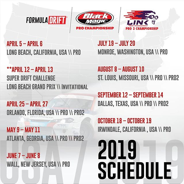 Following our 2018 Finals in Irwindale, CA - We relocated to Las Vegas, NV where we announced our 2019 Schedule & many other announcements.  See our all announcements here:  bit.ly/FD2019schedule