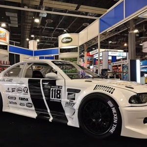 That new, new! Check out @alechohnadell's new @nexentireusa Drift E46 making its debut at the ITW booth AAPEX Our Complete FD SEMA Guide: (link in bio)   #FormulaDRIFT #FormulaD #FDXV #SEMA
