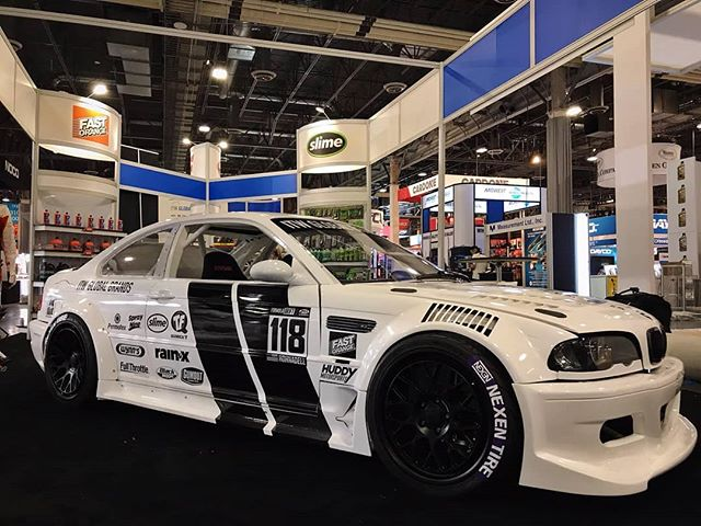 That new, new!  Check out @alechohnadell's new @nexentireusa Drift E46 making its debut at the ITW booth AAPEX  Our Complete FD SEMA Guide: (link in bio)