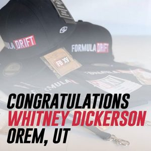 Congratulations Whitney Dickerson of Orem, UT - You've won a set of limited edition #FDXV gear! Who else is excited for the 2019 season? #FormulaDRIFT #FormulaD