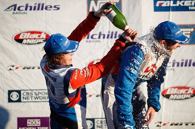 @PiotrWiecek of @WorthouseDrift | @FalkenTire learns how to pop champagne! Watch the video on our Facebook page!  While Piotr killed it all year on track he sometimes struggled to pop the champagne. Who wants to see Piotr popping lots of Champagne this coming season?