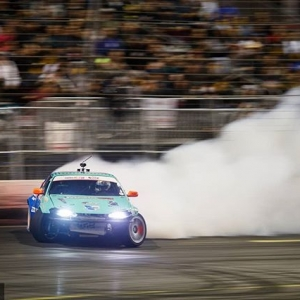 MASK OFF Comment your favorite @odidrift   @falkentire moment last season Game faces only at RD1: The Streets of Long Beach on Apr 5-6th. Tickets on Sale Now: (link in bio) #FormulaD #FormulaDRIFT