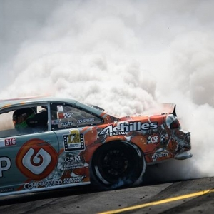 Smokin!  @austinmeeks316 | @achillestire Tire shredding alert coming to RD1: The Streets of Long Beach on Apr 5-6th. Tickets on Sale Now: (link in bio) #FormulaD #FormulaDRIFT