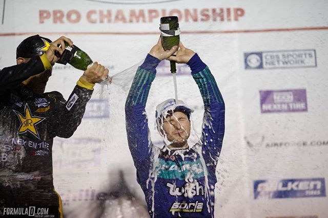 Tough Day in the Field rewarded with a champagne shower 🍾. @mattfield777 | @falkentire  Catch more champagne showers at RD1: The Streets of Long Beach on Apr 5-6th. Tickets on Sale Now: (link in bio)