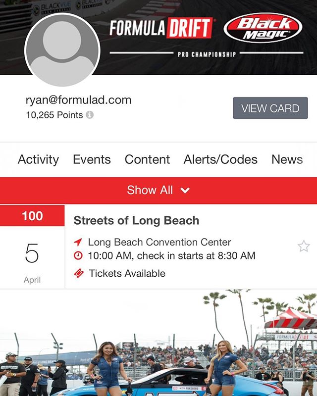 Download the New Formula Drift Rewards App  Earn Points for Tickets